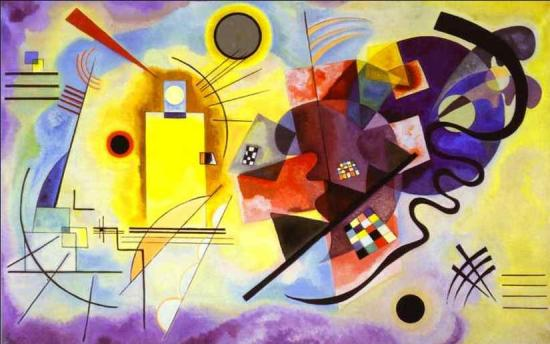Vassily Kandinsky. Jaune-rouge-bleu (1925)