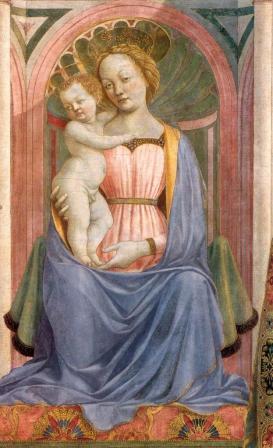 Veneziano. Retable Magnoli. La Vierge à l'enfant et les saints, détail 1 (v. 1445)