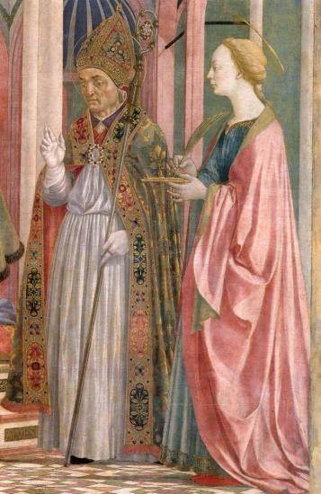 Veneziano. Retable Magnoli. La Vierge à l'enfant et les saints, détail 3 (v. 1445)