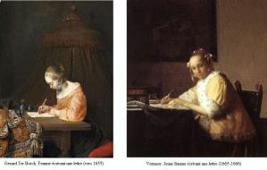 Vermeer. Influence de Gerard Ter Borch