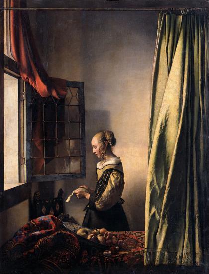 Vermeer. La Liseuse à la fenêtre (1657-59)