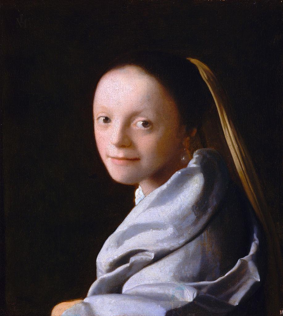 vermeer femme au collier de perles