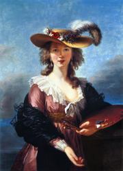 Elisabeth Vigée Le Brun. Autoportrait au Chapeau de Paille (1782)