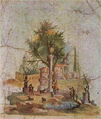 Villa d'Agrippa à Boscotrecase, paysage (v. 10 après JC)