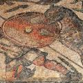 Villa La Olmeda, mosaïque des chasseurs, détail 1 (1er- 4e s.)