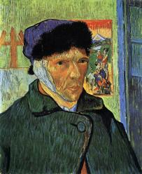 Vincent van Gogh. Autoportrait à l'oreille bandée (1889)