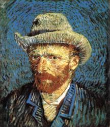 Vincent van Gogh. Autoportrait au chapeau de feutre gris (1888)