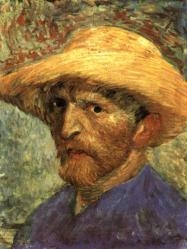 Vincent van Gogh. Autoportrait avec chapeau de paille (1887)