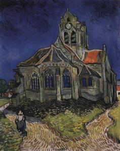 Vincent van Gogh. L'église d'Auvers-sur-Oise, vue du chevet (juin 1890)