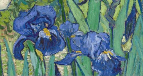 Vincent Van Gogh. Les iris, détail (1889)