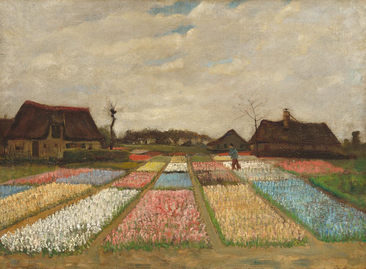 Vincent Van Gogh. Parterres De Fleurs En Hollande (avr. 1883).