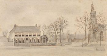 Vincent van Gogh. Presbytère et église à Etten (1876)