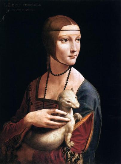 Vinci. Dame à l'Hermine (1483-90)