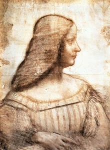 Vinci. Portrait d'Isabelle d'Este (1499-1500)