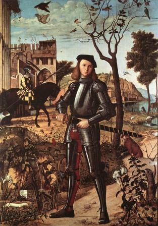 Vittore Carpaccio. Jeune chevalier dans un paysage (1505)