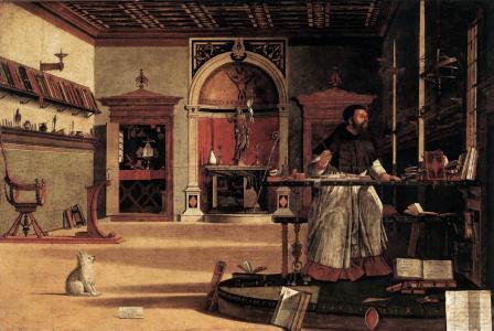 Vittore Carpaccio. La vision de saint Augustin (1502)