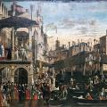 Vittore Carpaccio. Le Miracle de la Sainte Croix au Rialto (v. 1496)