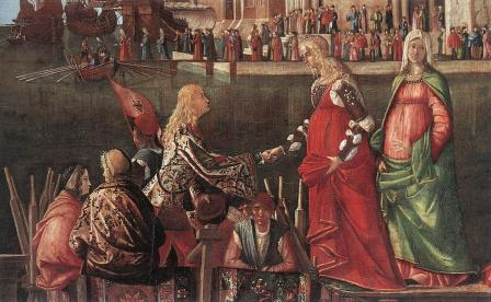 Vittore Carpaccio. Rencontre des fiancés, détail (1495)