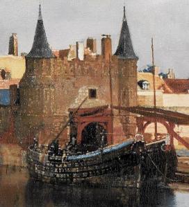 Vue de Delft. Porte de Rotterdam