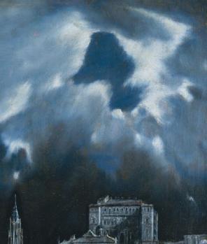 Vue de Tolède, le ciel éclairant la ville