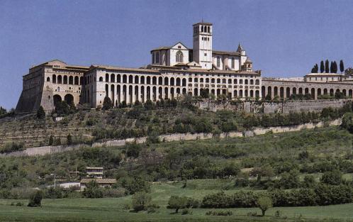 Vue de la basilique Saint-Francois d'Assise