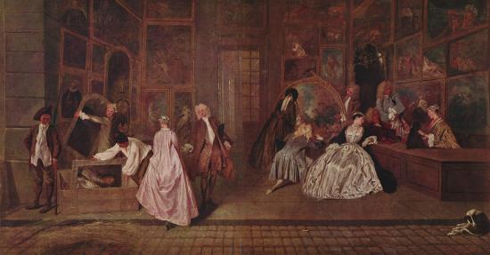Watteau. L'Enseigne de Gersaint, 1720