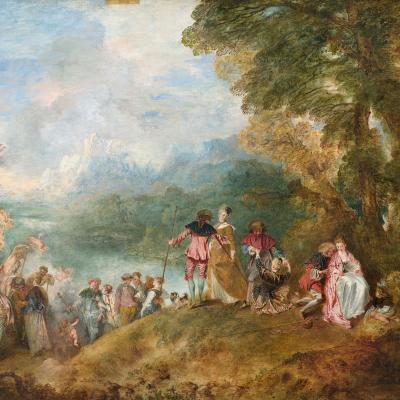 Watteau. Pèlerinage à l'Île de Cythère (1717)