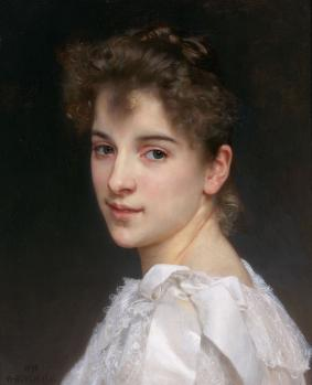 William Bouguereau. Portrait de Gabrielle Cot (1890)