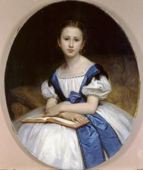 William Bouguereau. Portrait de Mademoiselle Pauline Brissac (1863)